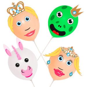 Ballonger Prins och Prinsessa Set
