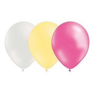 Ballongkombo - Vit-Elfenben-Metallic rosa 15-pack