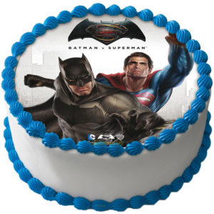 Batman v Superman Dawn of Justice Tårtbild Sockerpasta A