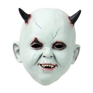 Besatt bebis - Mask med horn