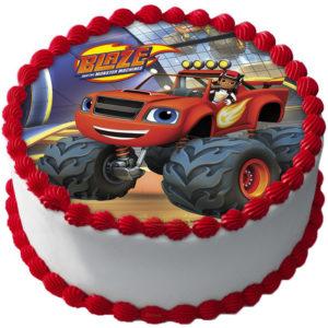 Blaze och Monstermaskinerna Tårtbild Sockerpasta A