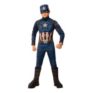 Captain America Barn Maskeraddräkt - Large