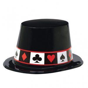 Casino hög hatt i plast