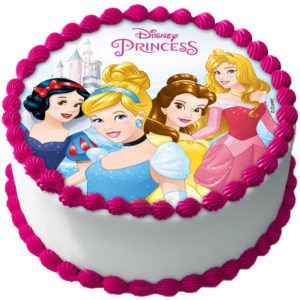 Disney Prinsessor Tårtbild Sockerpasta C
