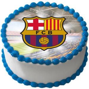 F.C. Barcelona Tårtbild Sockerpasta