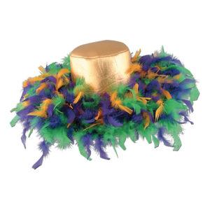 Fjäderhatt Mardi Gras - One size