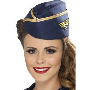 Flygvärdinna maskeraddräkt hatt