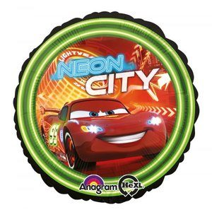 Folieballong - Cars Neon City 45cm