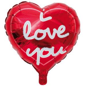 Folieballong I Love You Hjärta