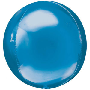 Folieballong Orbz Blå