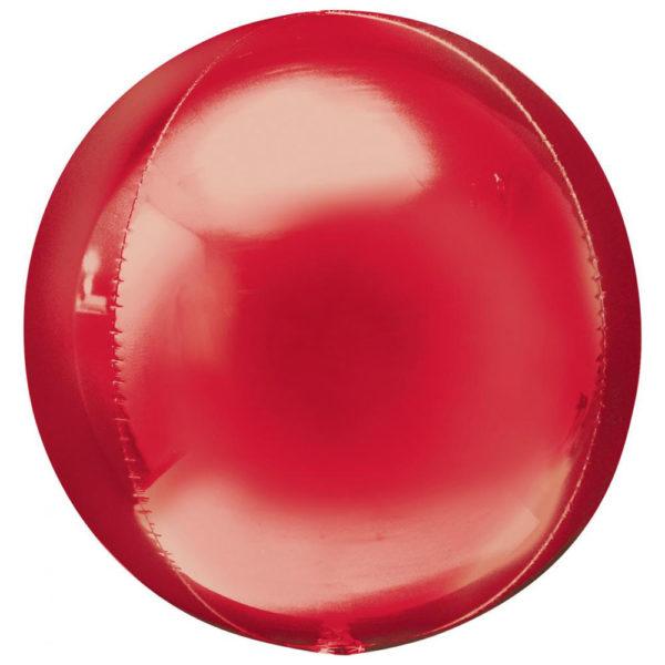 Folieballong Orbz Röd