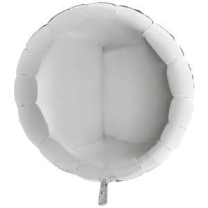 Folieballong Rund Silver XL