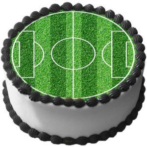 Fotbollsplan Tårtbild Sockerpasta