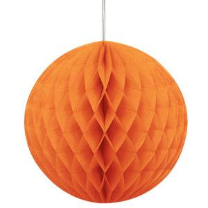 Hängande Honeycomb Boll Orange