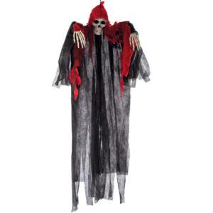 Hängande Skelett med Röd Luva