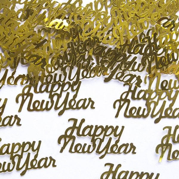 Happy New Year Guld Konfetti