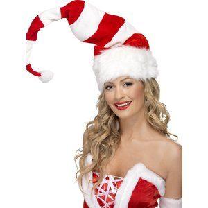 Jultomte hatt röd och vit randig