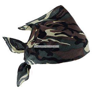 Kamoflagefärgad bandana scarf