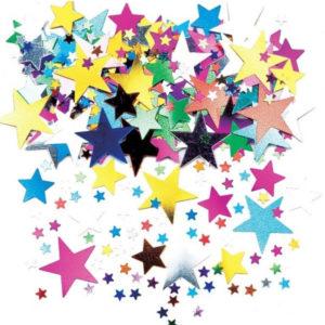 Konfetti Stjärnor Mix