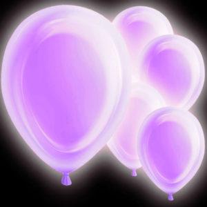 LED Ballonger Lila