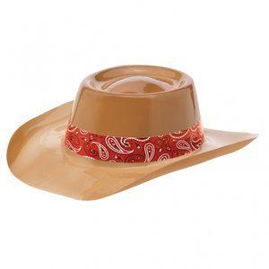 Ljusbrun cowboyhatt - plast