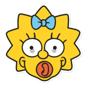 Maggie Simpson Pappmask - 1-pack