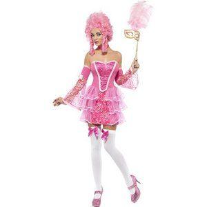 Marie Antoinette maskeraddräkt glitter