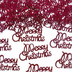 Merry Christmas Röd Konfetti