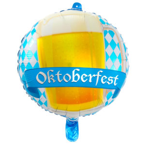 Oktoberfest Folieballong Ölglas Rund