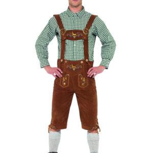 Oktoberfest Lederhosen Dräkt Deluxe (Medium)