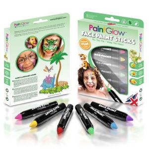 PaintGlow Djur Ansikts- och Kroppsfärg Set