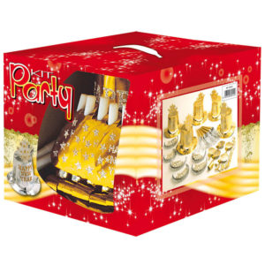 Partykit med Partyhattar Nyår Guld