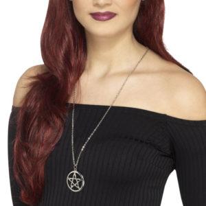Pentagram Halsband Silver