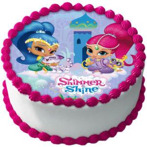 Shimmer och Shine Tårtbild B