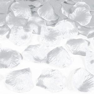 Silver Metallic Rosenblad Konfetti