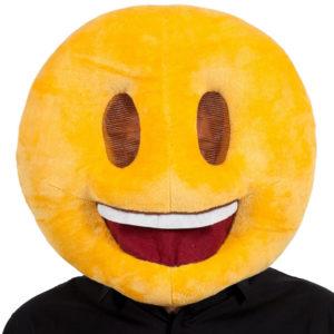 Smiling Head Emoji Mask