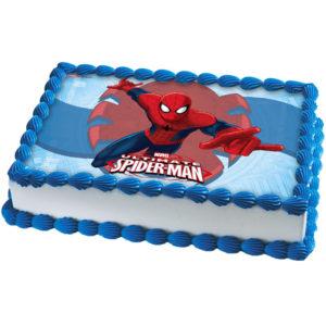 Spiderman Tårtoblat Fyrkantig B