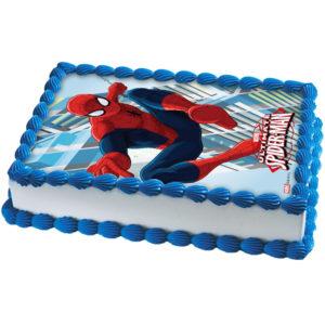 Spiderman Tårtoblat Fyrkantig C