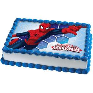 Spiderman Tårtoblat Fyrkantig D