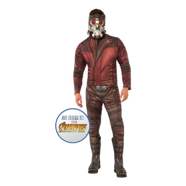 Star Lord Deluxe Maskeraddräkt - Standard