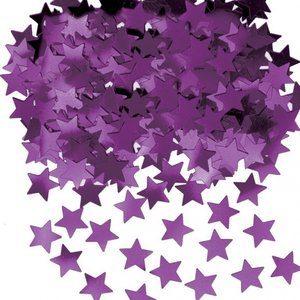 Stardust konfetti till bord/inbjudningar - lila - 14 g