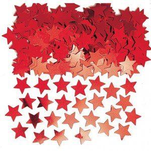 Stardust konfetti till bord/inbjudningar - röd - 14 g