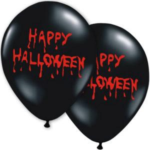 Svarta Happy Halloween Ballonger