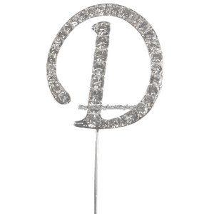 Tårtdekoration med diamanter bokstaven D