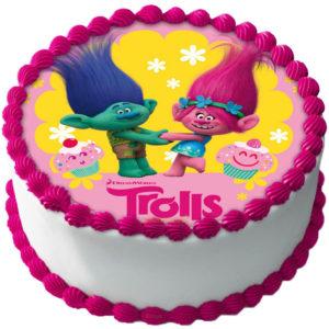 Trolls Tårtbild Sockerpasta A