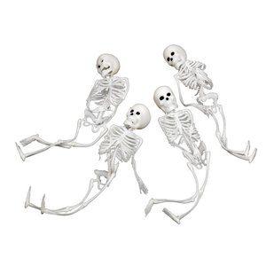 Vita mjuka skelett 4-pack