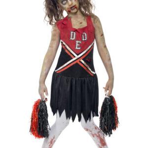 Zombie Cheerleader Dräkt Barn (Medium (7-9 år))