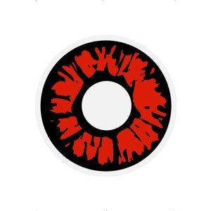 1 -dags explosions röda kontaktlinser