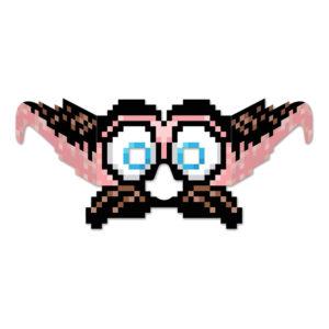 8-bitars Glasögon med Mustasch