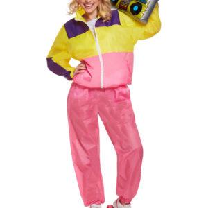 80-tals Shell Suit Dräkt Rosa